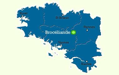 Carte Bretagne Broceliande.Broceliande Sites Remarquables